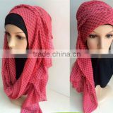 arab hot sale muslim handmade hijab with bead