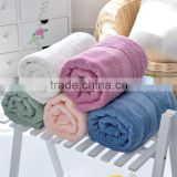 China High quality soft Bamboo cotton fabric bath towel