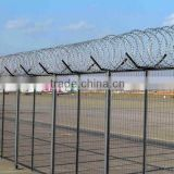 airport prison barbed wire fence with y post from HeBei Anping factory