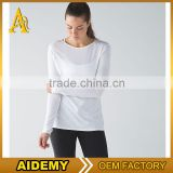 Custom top quality athletic wear women fitness sports wear breathable dry fit yoga shirts