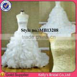 New fashion organza ruffle skirt prom dress long wedding dress 2014
