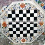 Marble Stone Chess Inlay Coffee Table Top, Tabletop Exporter Marble Inlay Table top Manufacturers Inlay Table