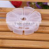 10.7X2.7cm In Stock 8 Grid Slot Organize Box Plastic Case Craft Jewelry Display Beads Storage Cover Component Boxes