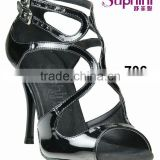 Suphini Graceful Black PU Latin Tango Dance Shoes