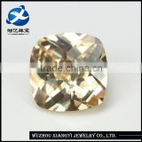 Guangxi 9mm square checkerboard champagne semi precious stone for jewelry/ buyers of raw precious stones