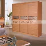 Customized acid resistant easy to clean colorful wood furniture wardrobe cabinet