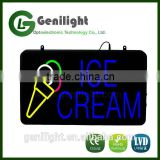 New LED Neon Animated ice Cream Sign