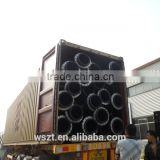 Plastic dredging pipe for marine and water pipe with flange and hdpe pipe with floating pontoon and SDR 21 pn 10 pipe
