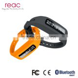 Fitness Tracker Pedometer Smart Bracelet Waterproof Fit Band chargeable with black silicon wristband sport tracker