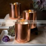 2015 new copper soy candle cup,copper plating candle holder,BRASS FINISH gold METAL CANDLE HOLDER vodka mule mug drinking cup