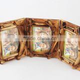 fashional cheap decoration wooden photo frame with three pictures family/office photo frames