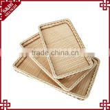 Supermarket equipment wicker plastic bread tray rattan fruit display basket