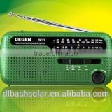 Pocket AM FM radio solar power portable AM FM radio