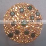 beaded gold plated masaic napkin ring for dining table decoration
