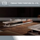 modern living room furniture nature marble travertine TV cabinet designs