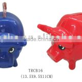 Different colors plastic bull shape coin bank/money box