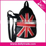 Ladies Casual UK Flag PU Backpack Bag Shoulders Bag Leisure Bags Cute Lightweight Backpacks for Girls