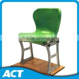 Riser mount PE plastic stadium chairs with aluminum leg support