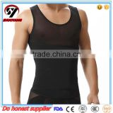 Wholesale High quality White Zipper Front Sleeveless Shaping Tummy Fir Men Slimming Body Shaper