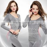 New Arrival 2016 Sexy Ladies Thermal Underwears Seamless Antibacterial Warm Long Johns Women Body Shaped Underwear Sets