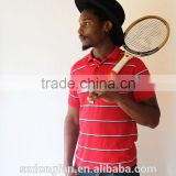 Wholesale Men Clothing In Alibaba Men Red Stripe Knitted Cotton Polo Shirt Men Golf Sport T Shirts