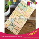 Pearl paper sticker custom cheap Postage stamps sticke with gold stamp adhesive sticker for decoration