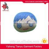 5*5cm custom face design plush keychain with beads keyring