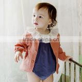 B22271A 1-5 years baby AUtumn coat baby soft comfortable cotton short jacket