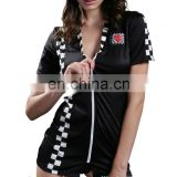 Beauty's Love Women's Sleeved Racer wear Plus Size Sexy Race Girl Outfit Hot Clubwear Cosplay Halloween Costume for Women