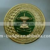 China manufacturer customized 3D gold golf association challenge coin, collect coin for promotional gift, wholesale high quality
