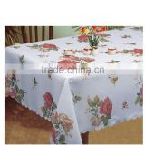 New Style Flower Fabric Painting Designs on Table Cloth                                                                         Quality Choice