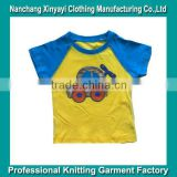 High Quality Summer Wear Kids tshirt with cartoon print made in China with best price and quality