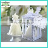 Hot sell bride dress shape candle wedding party giveaways                                                                         Quality Choice