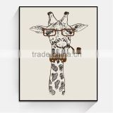 JC Wholesale Home Decoration New Style Fun Giraffe Canvas Art Painting For Living Room ANI-30