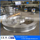 Forged crane wheels on rails, Driving and Driven Crane Wheels for Bridge Crane, Gantry Crane