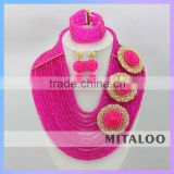Mitaloo Customized China Supplier 2015 African Wedding bridal beads Jewelry Set