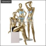 Fashion designer full body big breast lingerie female gold mannequin                                                                         Quality Choice
