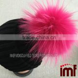 Fashion Thicken Large Fur Ball Beanie Bobble Ski Hat