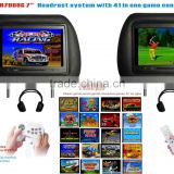 "H-7008G 7"" Car Headrest LCD monitor with 16 bit Game console built-in"