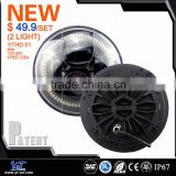 Y&T factory direct 7 inch round halogen sealed beam 40w car led headlamp light motor headlight