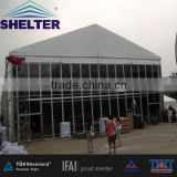 30m High Tent with 8m wall height, All around Glass panels, Provided for Big Events in Shanghai, China