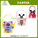 Hot Sale Colorful Non-Woven Insect Handbag With Flower Easter Candy Box