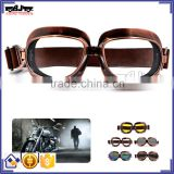 BJ-GT-013 Copper frame googles Clear Lens motorcycle glasses wholesale motocross googles for Harley