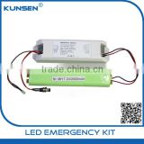 40-50v 90mA emergency battery pack led emergency lighting kit with 7.2V 2000mah Nimh battery and self-test function