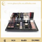 acrylic cosmetic counter display, makeup cosmetic display manufacturer, factory direct cosmetic display