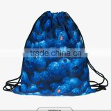 2016 Fashion summer backpack drawstring bag blueberrys digital print sewing No raw edges tote tutorial with travel stuff