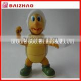 Hot sell plastic 3d vynil cartoon tortoise toy figure / cute OEM plastic 3d tortoise toy figure