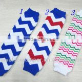 4th of july item!Wholesale spandex fabric for stocking knee high colourful socks cotton chevron childrens leg warmer