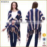 New Style Tassels Batwing Sleeve Cappa Sweater For Girls