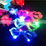 plastic flashing light up led children glasses